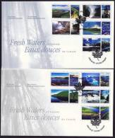 2000  Fresh Waters Of Canada From Self Adhesive Booklets Sc 185455a-e - First Day Covers
