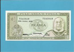TONGA ★ 1 PA' ANGA ★ 28.10.1982 ★ UNC ★ P 19c ★ N.º B/I 545819 - Tonga