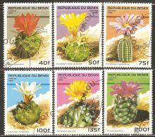 Benin 1996 Mi# 824-829 Used - Flowering Cacti - Sukkulenten