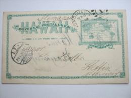 1894, Postal Stationary Send To Germany, Long Message On Backside - Hawaii