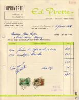 ENSIVAL LEZ VERVIERS IMPRIMERIE PIROTTE - Printing & Stationeries