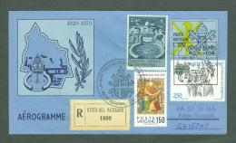 VATICAN 1979 AEROGRAMME REGISTERED POPE JOHN PAUL II Travel To GNIEZNO POLAND (WITH NEWSPAPER OF EVENT) (E9857 - Vatican