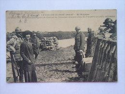 La Grande Guerre 1914-17 En Belgique La Reine Et Genéral De Coenninck  Dans Les Tranchées Postes Militaires Belges 12/18 - Guerre 1914-18