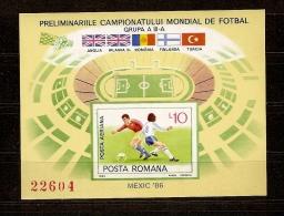 Roumanie Roemenie 1985 Yvertn° Bloc 178A *** MNH Cote 16,00 Euro Sport Football - Blocchi & Foglietti