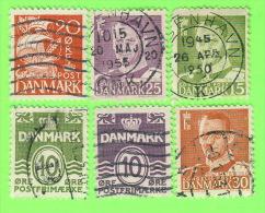LOT DE 12 TIMBRES, DANEMARK - OBLITÉRÉS - - Denmark