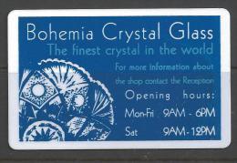 Hotel Medinek - Kutna Hora Czech Republic, Bohemia Crystal Glass Advertisement - Cartes D'hotel