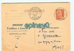 24 - MONTPON SUR L´ISLE - CARTE PUBLICITAIRE - Fretillére & Gensac - Quincaillerie - France