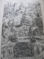 Switzerland -Eine Bergtour Im Kanton SCHWYZ -  Humour  1862 Engraving ILZ1855-65.114 - Stampe & Incisioni