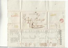 DC752-TOSCANA 1829 Fattura A Tal GIACOMO PARODI LIVORNO-GENOVA Con CORSO CAMBI - 1. ...-1850 Vorphilatelie