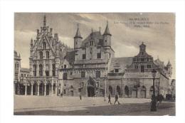 Belgique: Malines, Les Halles Et Le Nouvel Hotel Des Postes (13-4335) - Malines