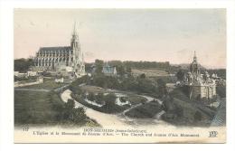 Cp, 76, Bon-Secours, L'Eglise Et Le Monument De Jeanne D'Arc - Bonsecours