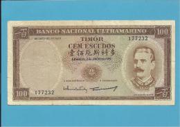 TIMOR - 100 ESCUDOS - 2.1.1959 - P 24 - Sign. 9 - JOSÉ CELESTINO DA SILVA - PORTUGAL - Timor