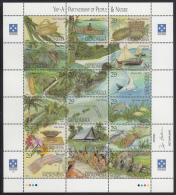 Micronesia MNH Scott #186 Sheet Of 18 29c Yap - A Partnership Of People & Nature - Micronésie
