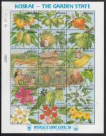 Micronesia MNH Scott #103 Sheet Of 18 25c Kosrae - The Garden State - World Stamp Expo '89 - Micronésie