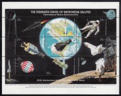Micronesia MNH Scott #81 Sheet Of 9 25c International Space Achievements - 20th Ann Of Moon Landing - Micronésie