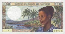 COMOROS P.  8a 1000 F 1976 UNC (s. 4) - Comores