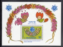 Micronesia MNH Scott #121 Souvenir  Sheet $1 Expo '90, International Garden And Greenery Expo, Osaka, Japan - Micronésie