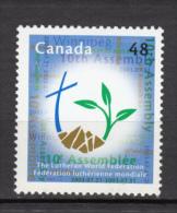 Canada, 2003, #1992, église Luthérienne, Religion, Croix, Cross, Lutheran Church - 1952-.... Reign Of Elizabeth II