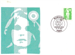 FRANCE - MARIANNE Verte - Timbre Et Tampon Jour D'émission PARIS - 1993 - Cartoline Maximum