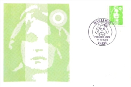FRANCE - MARIANNE 3,50  - Timbre Et Tampon Jour D'émission PARIS - 9 - 8 - 1993 - Cartoline Maximum