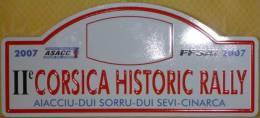 """Plaque De Rallye """"CORSICA HISTORIC RALLY 2007"""" Rally Plate - Plaques De Rallye"""