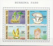 BURKINA FASO 1996  PILZE MUSHROOMS CHAMPIGNONS FUNGHI MNH NEUFS ** FUN - Champignons