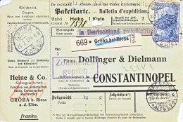 "GERMANY  ""PAKETKARTE""  CONSTANTINOPEL - Germany"