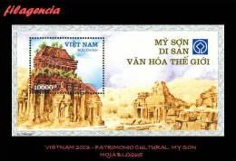 ASIA. VIETNAM MINT. 2003 PATRIMONIO CULTURAL. MY SON. HOJA BLOQUE - Vietnam