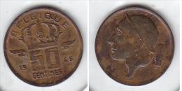 50 CENTIMES Bronze Baudouin 1966 FR - 03. 50 Centimes