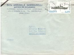 1979 £ 170 SU BUSTA DITTA ANNIBALE GAMMARELLI SARTORIA ECCLESIASTICI - 1971-80: Marcofilie