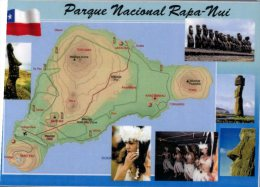 (638) Map + Rapa Nui - Easter Island - Maps