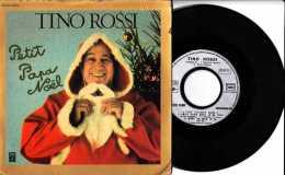 Années 1940 - 45 Tours 4 Titres - Tino Rossi - Petit Papa Noël - Minuit Chrétiens - Emi - Réed 1978 - TBE - Weihnachtslieder