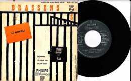 Années 1950 - 45 T 4 Titres - Georges Brassens - Le Gorille - Le Fossoyeur - Je Suis Un Voyou - Le Petit Cheval - Philip - Vinyles