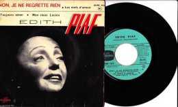 Années 1960 - 45 Tours 4 Titres - Edith Piaf - Non Je Ne Regrette Rien - Les Mots D´amour - Toujours Aimer - Mon Vieux L - Vinyles