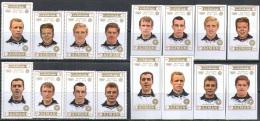 0127-8 Olympic Sport Football Soccer FIFA 1972 1974 Ajman 8+8v 2set MNH ** Imperf Imp 10,5ME - Verano 1972: Munich