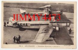 "CPA POST CARD N°344 A -  AIR FRANCE - Trimoteur Dewoitine "" Antarès "" En 1937 - Chiché TITO - Edit. GONNEFF - Aérodromes"