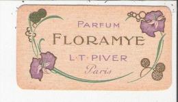 PARFUM FLORAMYE L T PIVER PARIS CARTE PARFUMEE ANCIENNE - Cartes Parfumées