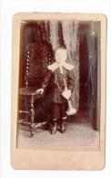 Photo CDV XIXème Portrait D'un Enfant Musicien Avec Clairon ? Napoléon III Photographe Muller & Rault Paris - Personnes Anonymes