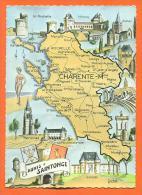 Dpt  17  Aunis Et Saintoge -   Cpsm Gf Carte De Charente Maritime - Sonstige Gemeinden