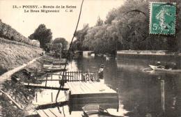 78 POISSY BORDS DE LA SEINE LE BRAS MIGNEAUX  CIRCULEE 1910 - Poissy