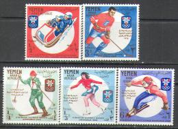 0981 Sport Winter Olympic 1968 YAR 5v Set MNH ** 9ME - Winter 1968: Grenoble