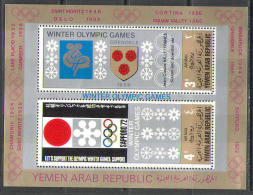 0987 ✅ Sport Winter Olympic Games Arms 1968 Yemen AR S/s MNH ** 12ME - Winter 1968: Grenoble