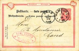 BRIEFKAART 1888  ZIE AFBEELDING