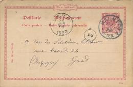 BRIEFKAART 1896  ZIE AFBEELDING  / DUITSLAND  / AFSTEMPELING MALMEDY