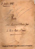 Acte De Vente SAINT SAUVEUR DES LANDES,  1917, Etude CHEVALLIER, Notaire à FOUGERES (35), BRARD Et D. JEAN - Manuscritos