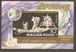 Hongrie Hungary Magyar Ungarn  **  N° YT BF 79 Apollo 11 Homme Sur La Lune - Espace