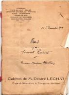 Bail Ferme LECOUSSE, 1948, Cabinet LECHAT à FOUGERES (35), 1948, Consorts HUBERT/CHARTRAIN - Manuscripts
