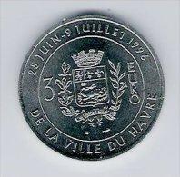 3 Euro Temporaire Precurseur LE HAVRE  1996, RRRR, Nickel, Nr. 374 - Euro Der Städte