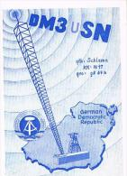 QSL CARD - GERMANIA EST (EAST GERMANY) DDR -1972 KARL MARX STADT, MAP   - RIF. 40 - Radio Amatoriale