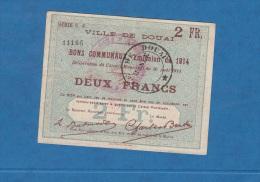 Billet Ancien - DOUAI - Bons Communaux -  Emission De 1914 - Série C 6 - Deux Francs - Cachet Rouge - Bonds & Basic Needs